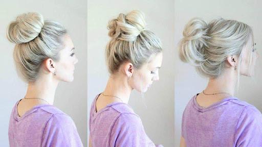 موهای خود را در بالای سر جمع میکنید